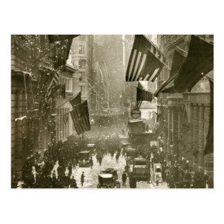 Carte Postale Partie de Wall Street, extrémité de WW1, 1918