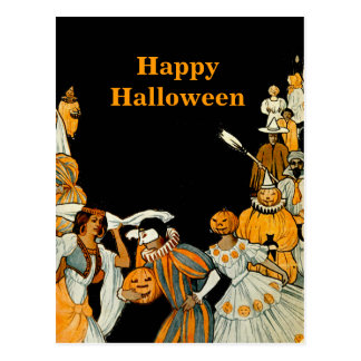 Carte Postale Partie vintage de costume de Halloween