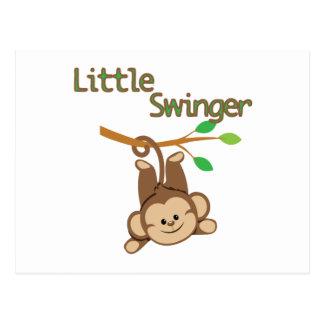 Carte Postale Partouzeur de singe de garçon petit