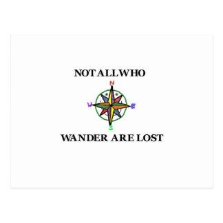 Carte Postale Pas tous ce que Wander sont perdu