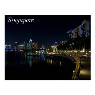 Carte Postale Passage couvert de baie de marina de Singapour