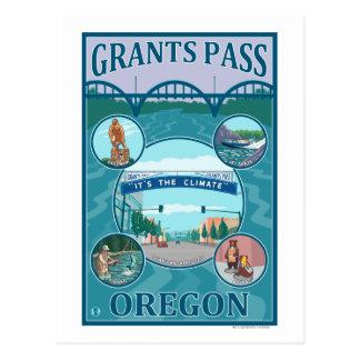 Carte Postale Passage de concessions, affiche de voyage