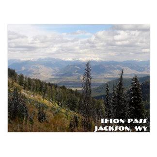 Carte Postale passage de teton, passage de Teton, Jackson, WY