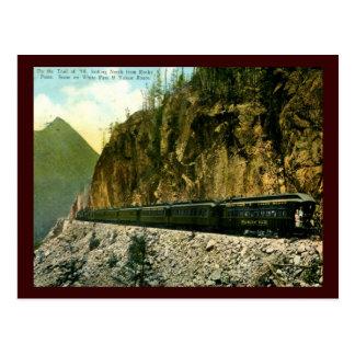 Carte Postale Passage et cru 1936 blancs de train d'itinéraire
