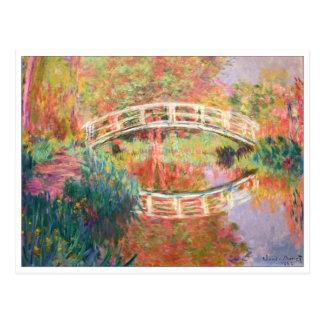 Carte Postale Passerelle japonaise, Giverny par Claude Monet