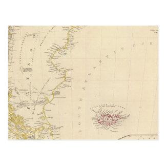 Carte Postale Patagonia, S Shetland, S Orkneys