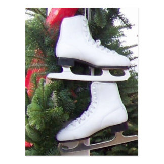 Carte Postale Patins de glace accrochants