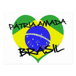 Carte Postale Patrie Aimée Brésil