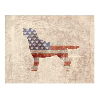 Carte postale patriotique de drapeau américain