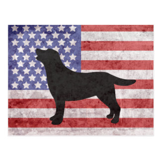 Carte postale patriotique d'ensemble de Labrador 4