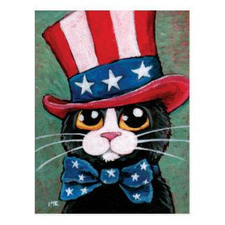 Carte postale patriotique du chat | de smoking 4