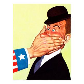 Carte Postale Patriotisme vintage de censure des Etats-Unis de