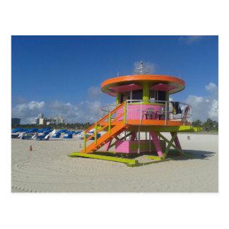 Carte Postale Patrouille #01 de plage de maître nageurs de Miami