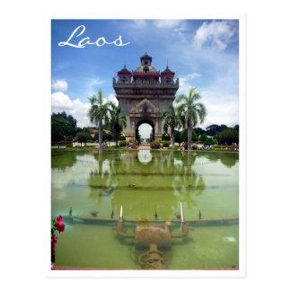 Carte Postale patuxai Vientiane