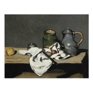 Carte Postale Paul Cezanne - la vie toujours avec la bouilloire