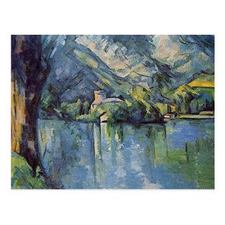Carte Postale Paul Cézanne - lac annecy