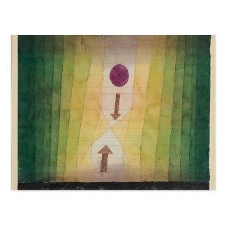 Carte Postale Paul Klee : Avant l'attaque éclaire