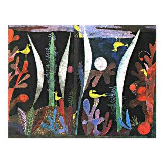 Carte Postale Paul Klee : Paysage avec la peinture jaune