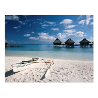 Carte Postale Pavillons de plage Motu Toopua