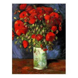 Carte Postale Pavots rouges de Van Gogh, économies de cru la