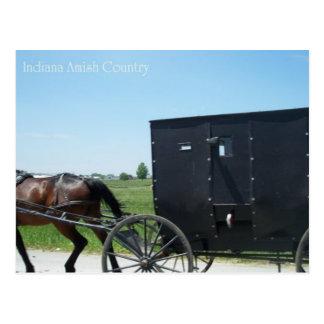 Carte Postale Pays de l'Indiana Amish