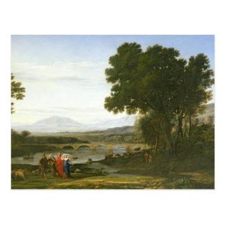 Carte Postale Paysage avec Jacob, Laban, et Laban
