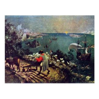Carte Postale Paysage avec l'automne d'Icare par Bruegel D. Ä.