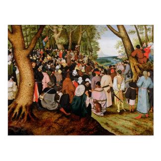 Carte Postale Paysage avec St John le baptiste prêchant