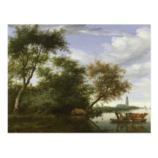 Carte Postale Paysage boisé de rivière