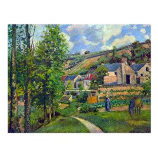 Carte Postale Paysage chez Pontoise par Camille Pissarro