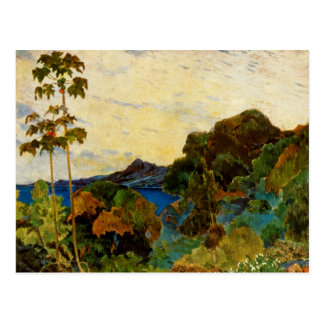 Carte Postale Paysage de la Martinique de Paul Gauguin (1887)