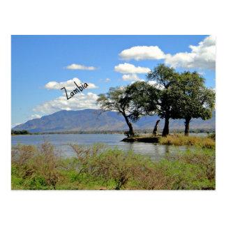 Carte Postale Paysage de la Zambie