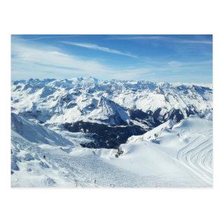 Carte Postale paysage de neige d'alpes de voyage de montagne de