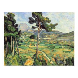 Carte Postale Paysage de Paul Cezanne- avec le viaduc