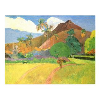 Carte Postale Paysage de Tahitian, montagnes Tahiti, Paul