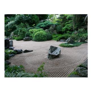 Carte Postale Paysage du jardin H de zen et photographie de