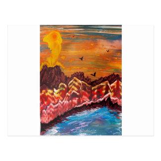 Carte Postale Paysage du volcan de tabagisme