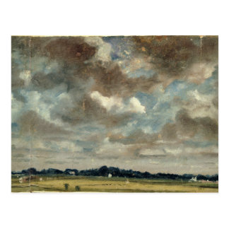 Carte Postale Paysage étendu avec les nuages gris, c.1821 (huile