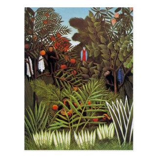 Carte Postale Paysage exotique 1908 par Henri Rousseau