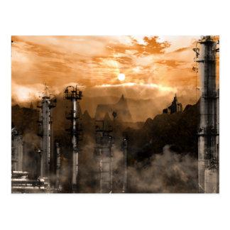 Carte Postale Paysage gothique de la science fiction de