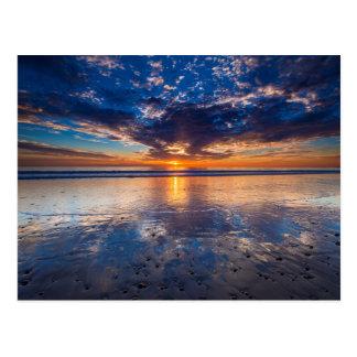 Carte Postale Paysage marin dramatique, coucher du soleil, CA