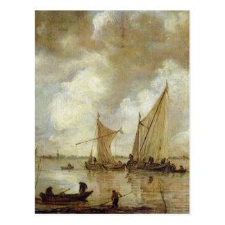 Carte Postale Paysage marin orageux, 1655