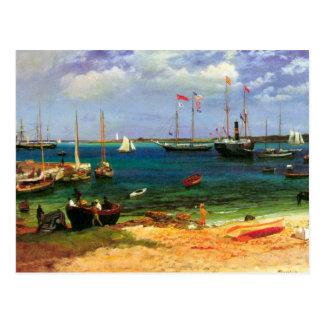 Carte Postale Paysage marin vintage, port de Nassau par