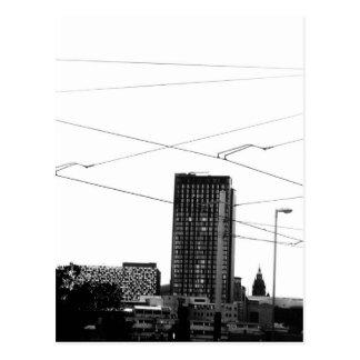 Carte Postale Paysage urbain abstrait renversant dans le