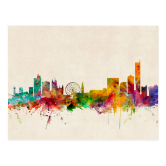 Carte Postale Paysage urbain d'horizon de Manchester Angleterre