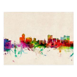 Carte Postale Paysage urbain d'horizon de Winnipeg Canada