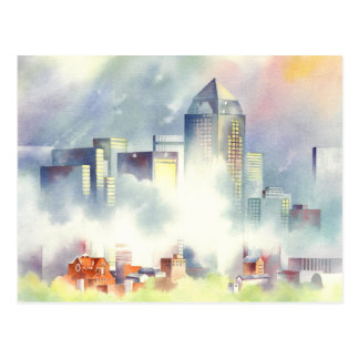"""Carte Postale Paysage urbain dramatique """"d'horizon de Dallas"""""""