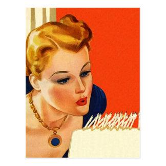 Carte Postale PC vintage de coup de gâteau de fête