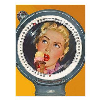 Carte Postale PC vintage de résolution de poids de nouvelle