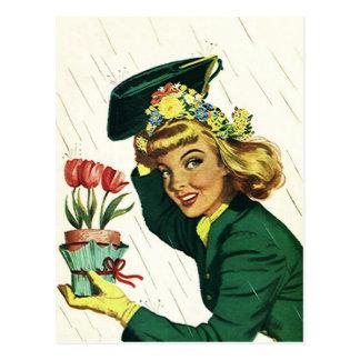 Carte Postale PC vintage d'invitation d'amusement de partie de